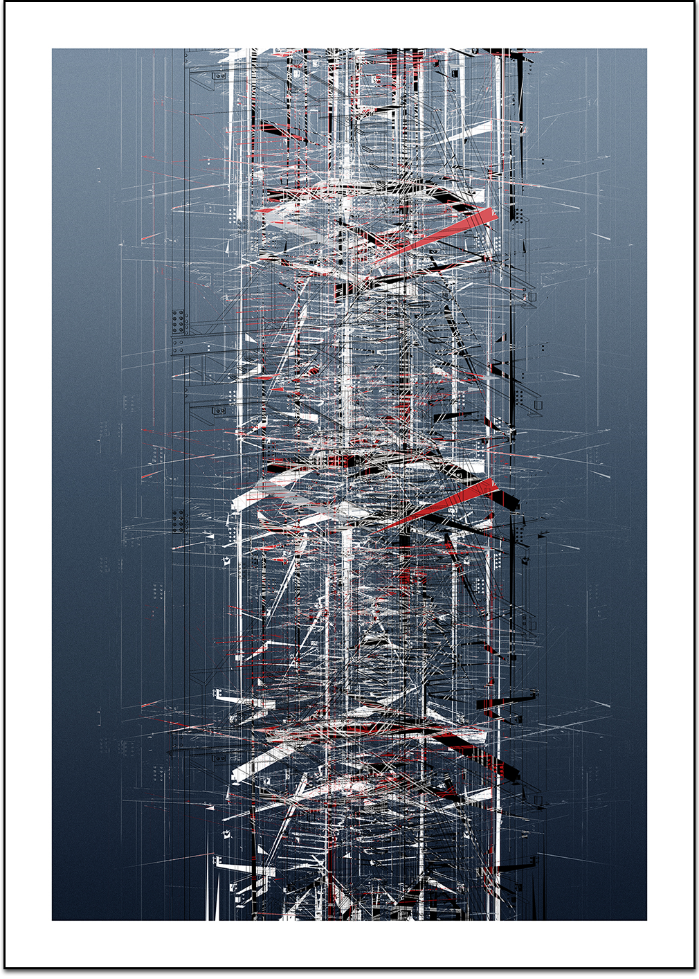 Shument, structure, digital print by Laurent Bompard